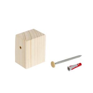 Fissaggio a muro per mobile fai-da-te con angoli squadrati | Kompo Quadro