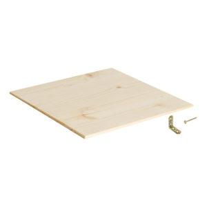 Schienale per scaffale in legno robusto e resistente | Kompo Kube
