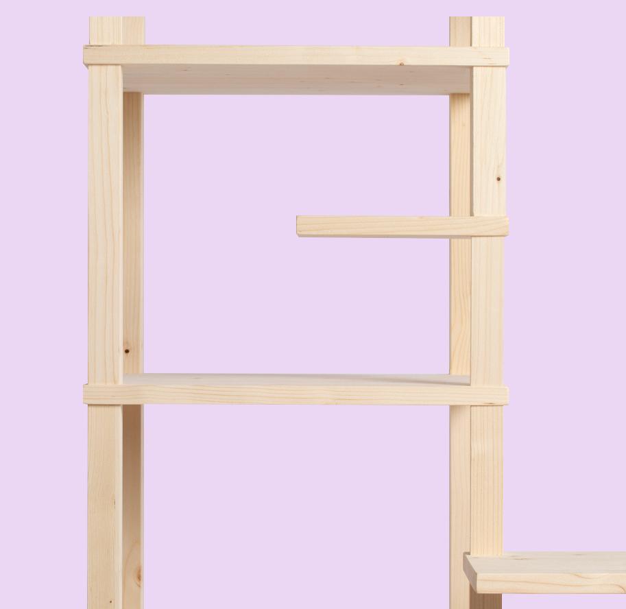 Mobile in legno squadrato e componibile | Kompo Kuadro
