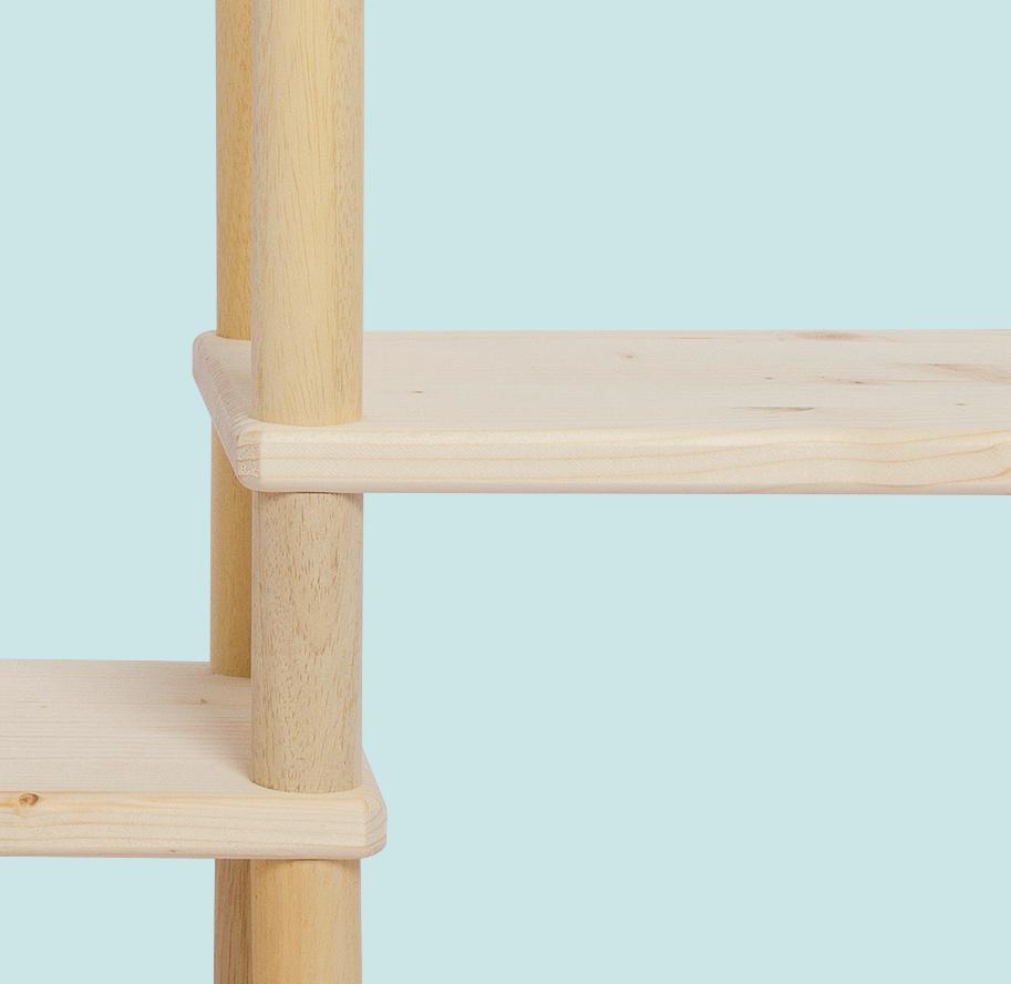 Mobile componibile e modulare in legno italiano | Kompo Tondo