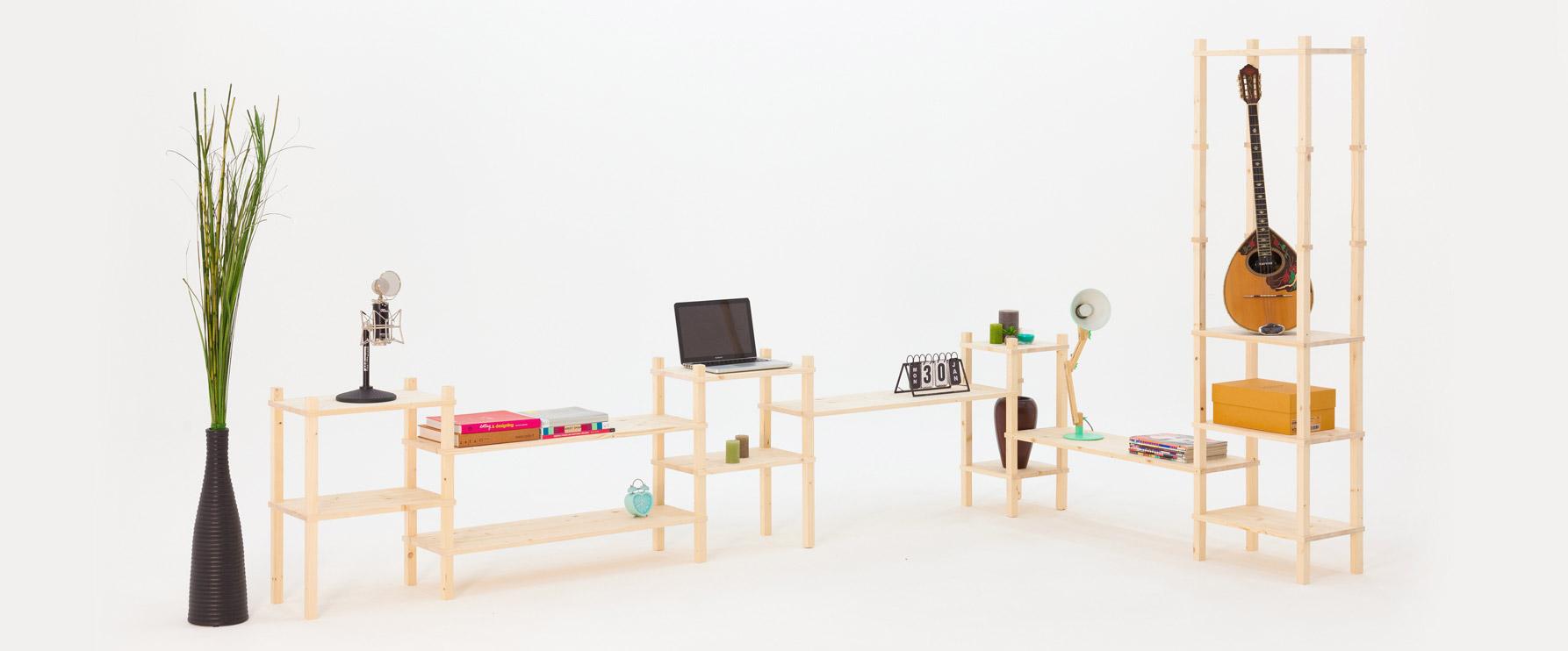 Ispirazioni di composizioni in legno con sistema modulare | Kompo Quadro