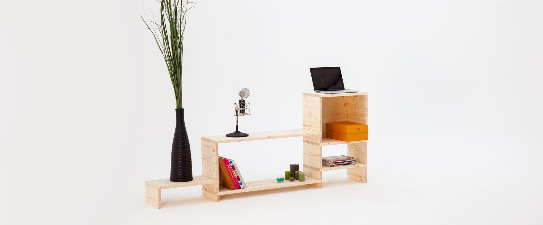 Composizioni di arredo in legno resistente | Kompo Kube