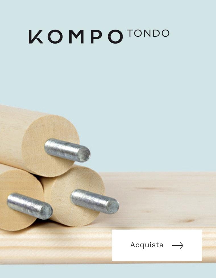 Acquista mobile componibile in legno solido e resistente | Kompo
