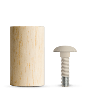 Mobile componibile e modulare in legno italiano | Giunto e vite terminale | Kompo Tondo