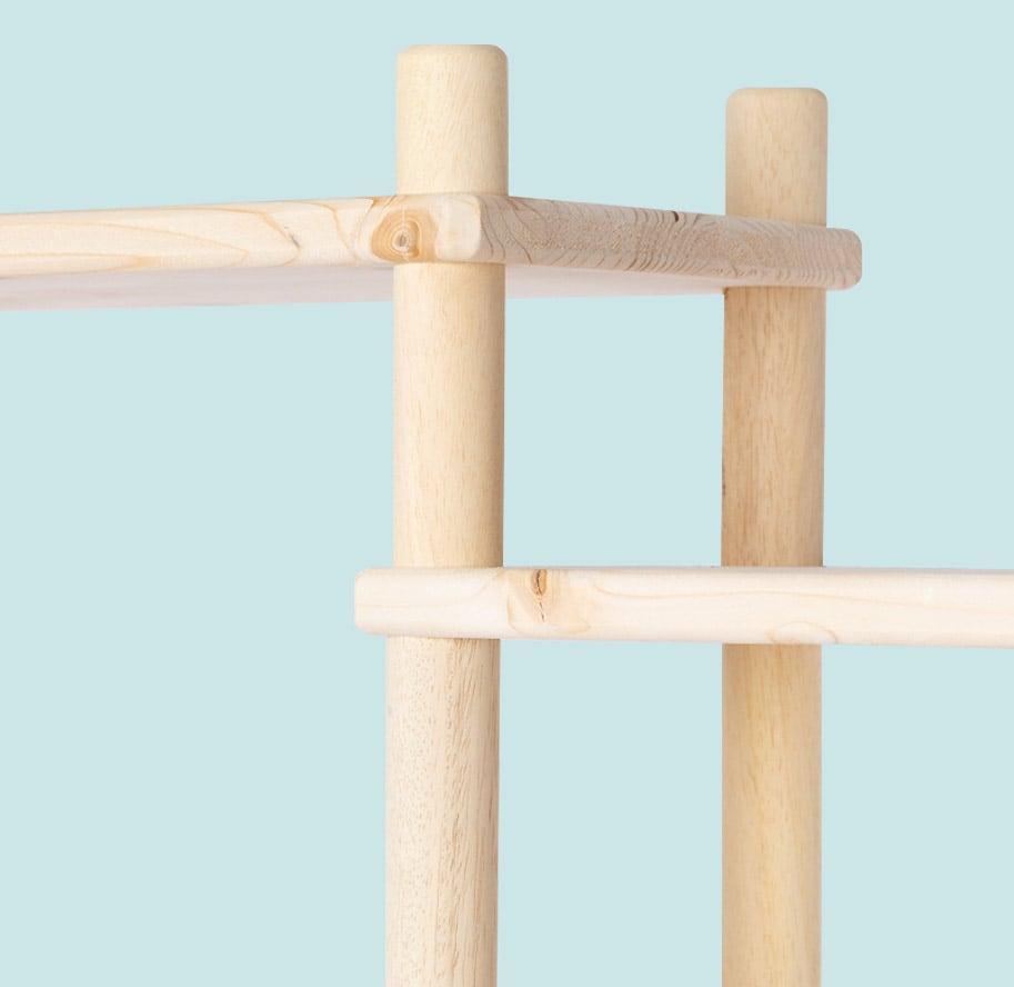 Scaffale fai-da-te in legno componibile | Soluzione Kompo