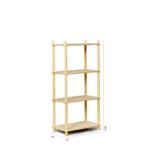 Composizione libreria fai-da-te in legno | Kompo Tondo | Soluzione Kompo