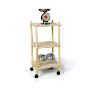Composizione fai-da-te in legno per cucina | Kompo Tondo | Soluzione Kompo