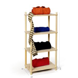 Composizione fai-da-te in legno per collezioni | Kompo Tondo | Soluzione Kompo
