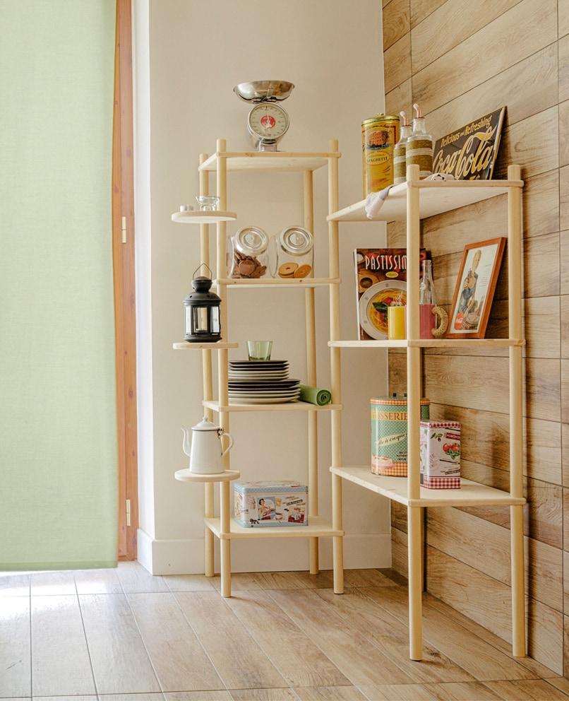 Composizioni fai-da-te in legno naturale italiano | Kompo Tondo | Soluzione Kompo