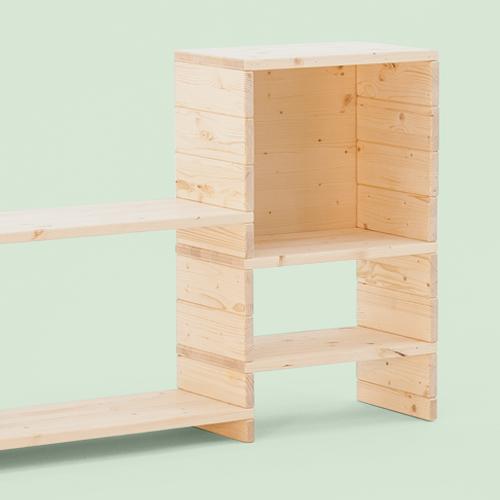Libreria componibile in legno fai-da-te | Soluzione Kompo